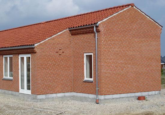 Murværksdetaljer   Opførelse af huse fra en bar